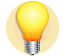 лампочка идея